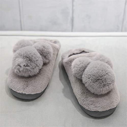 Maison Homme Femme Coton Gris Torisky Hiver Pantoufles Chaud D'intérieur Chaussures Chaussons wStg0Ptq