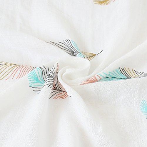 LifeTree Baby Musselin Decke Bambus Baumwolle f/ür M/ädchen 2 St/ück Einhorn /& Schwan Design Puckt/ücher Kuscheldecke Baby Sommer Baumwolldecke 120x120cm