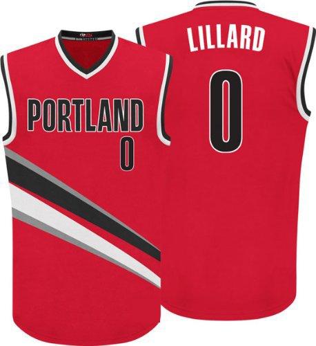 Damian Lillard #0 Men's Basketball Jersey Red
