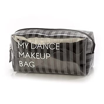 Amazon Com Yofi Cosmetics My Dance Makeup Bag Small Grey Beauty