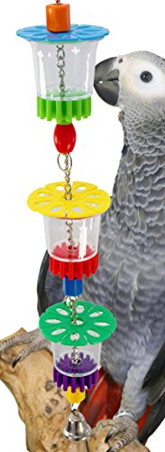 Bonka Bird Toys 1646 Cheers Bird Toy Parrot cage Toys Cages Foraging African Grey Amazon Conure.