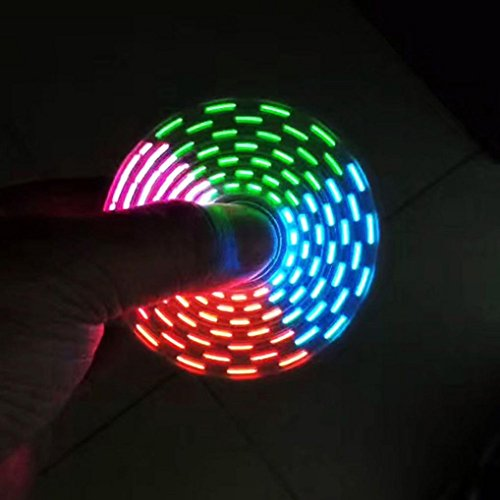 Price comparison product image Livoty 32 Changings LED Rainbow Light Hand Spinner Tri Fidget EDC Toy Focus ADHD Sweet (Green)