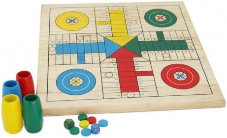 CAL FUSTER - Tablero de Parchís y Oca en Madera con barriletes. Medidas: 29x29 cm.: Amazon.es: Juguetes y juegos