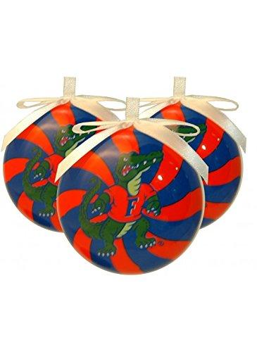 NCAA Florida Gators Peppermint Christmas Ornaments - Florida Gators Christmas Ornaments