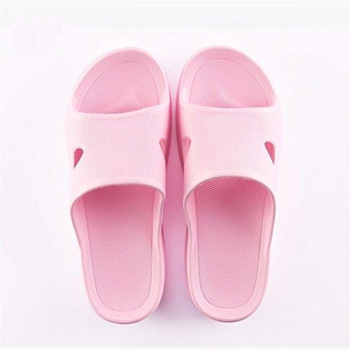 chaussures home amoureux intérieur YMFIE les anti Les glissant fond d'été femmes hommes et Pink pantoufles mou wgOqxAB