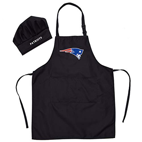 Gloral HIF New England Patriots Chef Hat Apron Home Aprons Grill Aprons Picnic Pinafore with ()