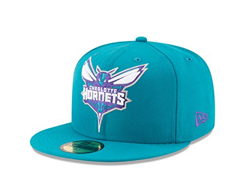 New Era NBA Charlotte Hornets Logo Grand Fitted 59Fifty Cap, 7.625, (Charlotte Cap)