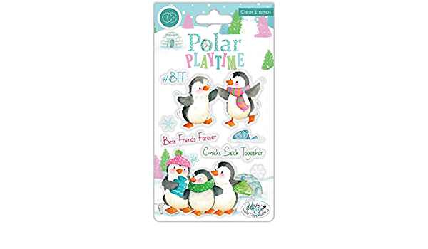 New Craft Consortium Clear Stamps Polar Playtime Polar Playtime