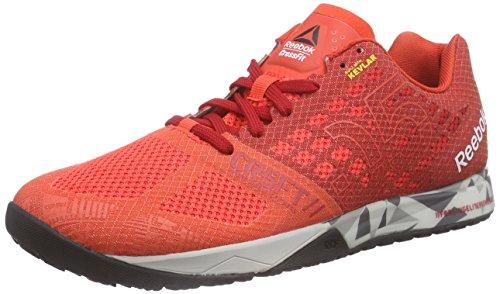 Reebok R Crossfit Nano 5.0 Zapatillas de Deporte Rojo / Gris / Negro (Laser Red / Excllent Red / Steel / Shark / Black)