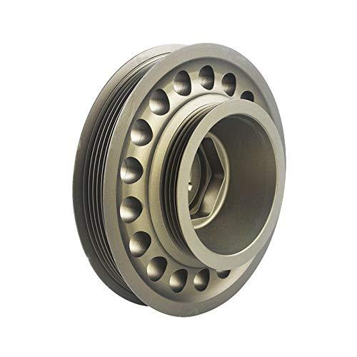 PQYRACING Racing Aluminum Crankshaft Pulley OEM Size Compatible for 93-01 Honda Prelude H22 VTEC