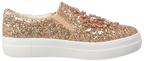 Buffalo Ladies 516-8963-3 Glitter Slip On Sneaker Multicolore (rosa 01)