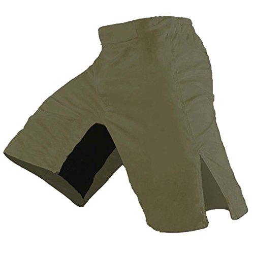 Blank MMA Shorts (Army Green, 32)