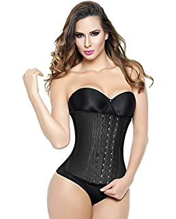 Ann Michell Classic Waist Trainer 2023 - Latex Waist Cincher Latex 3 Hooks Womens Black -