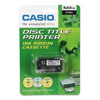 Casio® TR18BU, TR18BK Thermal Ink Ribbons RIBBON,F/CW50 & CW75,BK (Pack of8) ()
