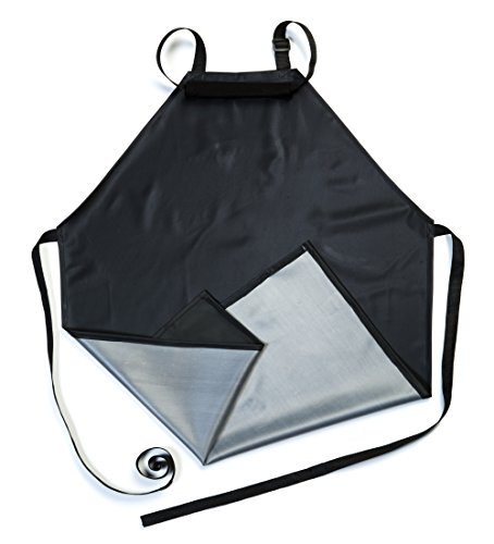 Waterproof Rubber Vinyl Apron - Upgraded 2018 Heavy Duty Model - Best for Staying Dry When Dishwashing, Lab Work, Butcher, Dog Grooming, Cleaning Fish, Projects - Industrial Chemical Resistant (Vinyl Apron)