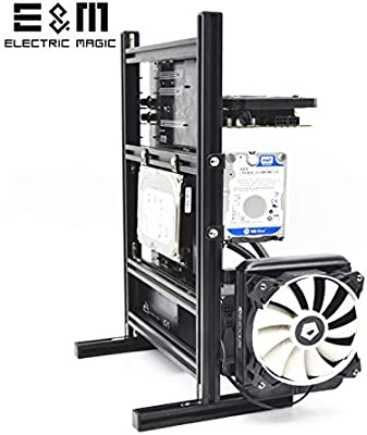 Handle,20x20 Aluminum Profile,Support Independent Graphics Card,Easy to Disassemble Bewinner Open PC Case,ATX//M-ATX//ITX Open Chassis Vertical Overclocking Test Platform Chassis,DIY Open Rack Red
