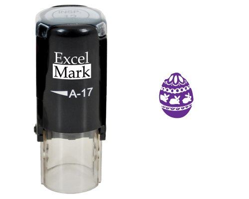 Easter Rubber Stamp - Easter Egg Stamp - Purple Ink