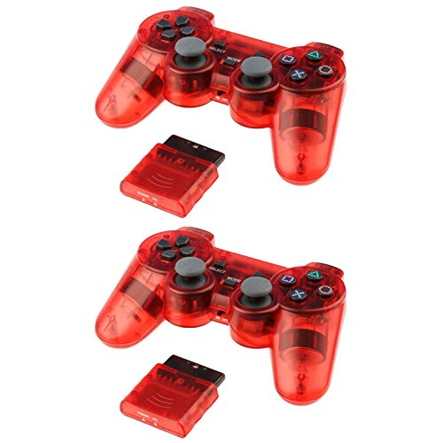 2 for PS2 Wireless Controller Playstation 2 (Red)