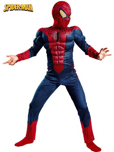 Disguise Costumes spider-man movie classic muscl Red/Blue