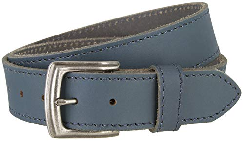 Made in Italy Full Grain Leather Casual Jeans Belt (38, Blue) ()