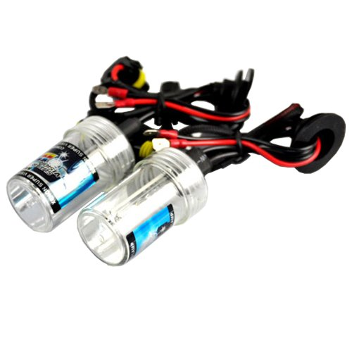 New Car 35W 12V Bi-Xenon H1 6000K HID Xenon Replacement Bulbs (1 Pair Pure White Color) (Ballast Car Audio)