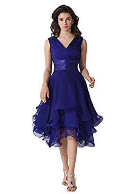 Bess Bridal Women's V-Neck Chiffon Formal Mother of The Bride Dresses