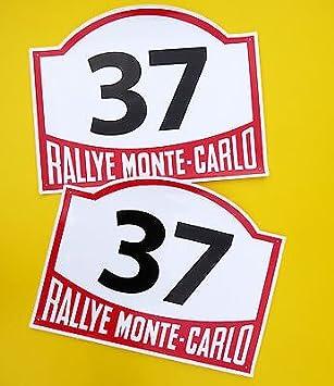 Estilo Clasico Coche Clasico Monte Carlo Carrera De Rally Numeros Ideal Para Mini Cooper Amazon Es Coche Y Moto