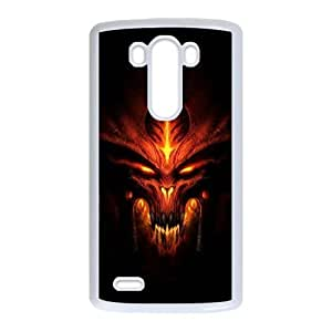 Popular And Durable Designed TPU Case with Diablo LG G3 Cell Phone Case White
