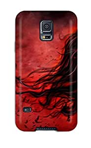 Galaxy S5 Case Cover - Slim Fit Tpu Protector Shock Absorbent Case (gothic)