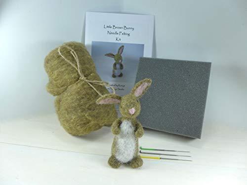 - Needle Felted Bunny Kit, DIY Felting Kit, Needle Felted Bunny