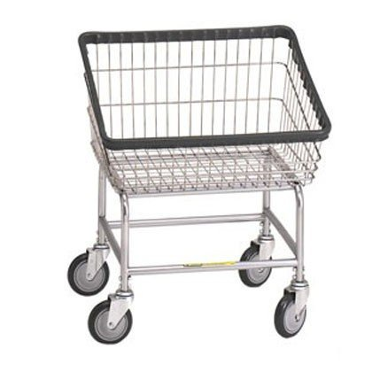 Loading Wire - R&B Wire 100T Front Loading Wire Frame Metal Laundry Cart - Chrome