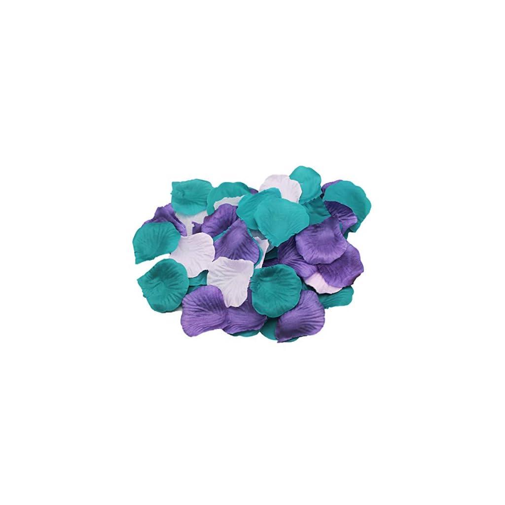 ALLHEARTDESIRES-900-Pack-Purple-Lavender-Teal-Mixed-Mermaid-Party-Supplies-Silk-Rose-Flower-Petals-Wedding-Table-Confetti-Girl-Baby-Shower-Birthday-Bridal-Shower-Party-Garden-Aisle-Decoration