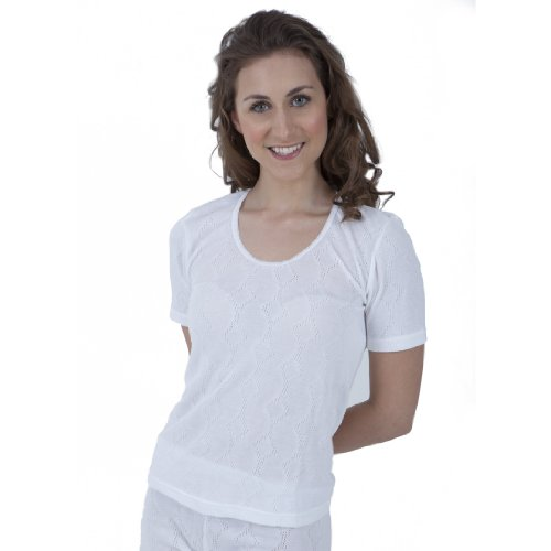 Ladies Thermal Wear Short Sleeve T Shirt Polyviscose Range (British Made)
