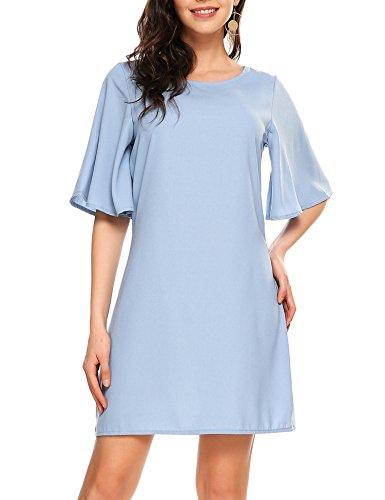 light blue short dress - 2