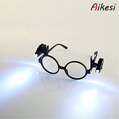 ec5075bf30 Aikesi 1 PC Gafas de Lectura con luz LED Gafas de Lectura presbicia  rectangulares iluminadas (