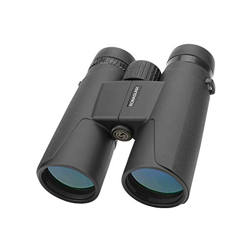 12X42 Binoculars for Bird Watching Adults Compact HD Professional with Low Light Night Vision, Quick Focus and Zoom Binoculars for Hunting Safari Travel Stargazing-BAK4 Prism FMC Lens with Strap/Case (Zoom Binoculars Compact)