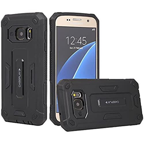 S7 Case, Galaxy S7 Case, CASEPLAY Premium Hybrid High Impact *Shock Absorbent* Defender Hard Case Cover with Dual Sales