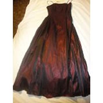 2a16c10479b Image Unavailable. Image not available for. Color: Night Way Collection  Dark Red Evening Gown ...