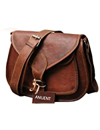 "9"" Women's Real Leather Shoulder Cross Body Satchel Saddle Tablet Retro Rustic Vintage Bag Handbags Purse"