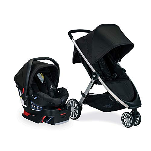 Britax B-Lively Travel System with B-Safe 35 Infant Car Seat, Raven - Birth to 55 Pounds (Cruise Time Car Seat Cover)