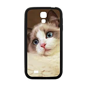 ALLCASE Persian cat Beautiful Blue Eyes for Girls Samsung GALAXY S4 mini Black Protective Snap-on Case with Best Rubber