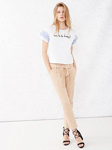 con Cotone Pantaloni Size Oltre in Fusciacca Donna Chino Italian Rosa vqpCwqRxX