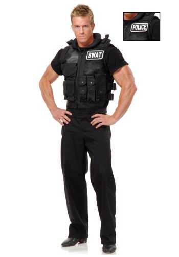 Charades SWAT Team Costume Vest X-Large -
