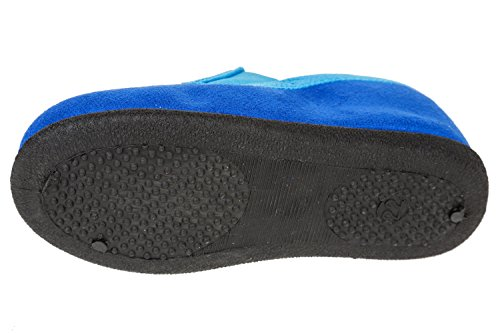 gibra - Zapatillas de estar por casa de tela para niño Azul