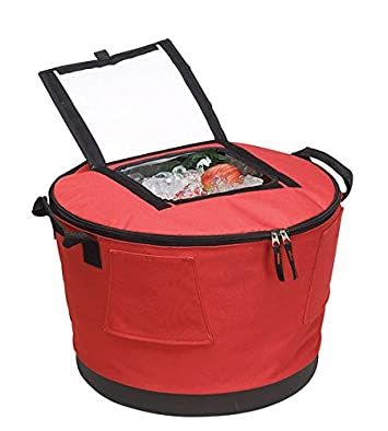 Collapsible Barrel Cooler with Stand- RED