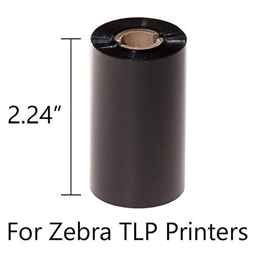 (GA International WR57x74C0.5-1ZZ2 Zebra TLP-2824 Thermal Transfer Ribbon, 0.5