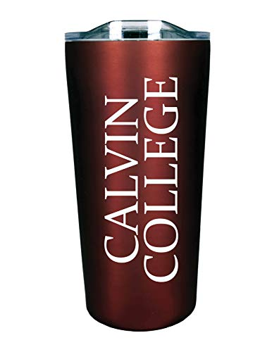 The Fanatic Group Calvin College Double Walled Soft Touch Tumbler, Design-2 - Burgundy