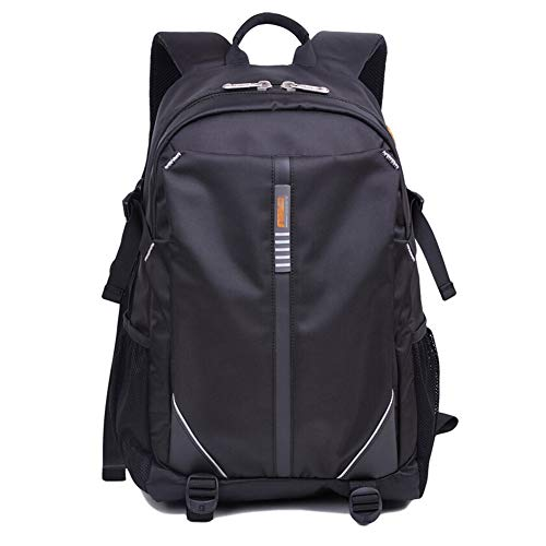 Price comparison product image Men's Backpack Business Bag Leisure Bag School Bag Laptop Bag Travel Bag Backpacks- Polyester Waterproof and Breathable Weight Loss Anti-Theft Package ZHML (Color : Black,  Size : 523121cm)