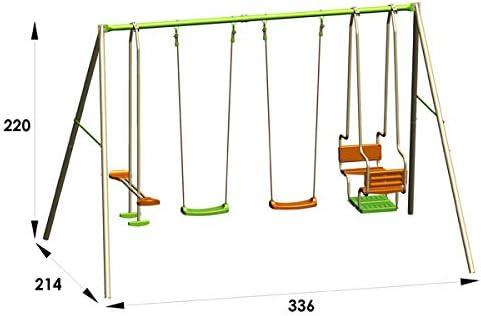 6 Enfants TRIGANO Portique m/étal 2,20 m