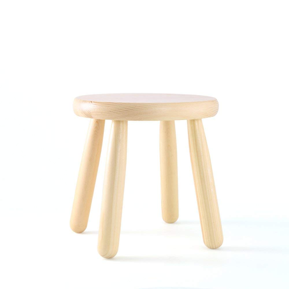 YQY Chair- Small Stool Solid Wood Nordic Style Household Stool Leisure Stool Fashion Footstool